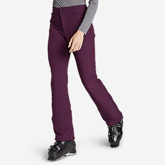 Women's Alpenglow Stretch Ski Pants in Purple