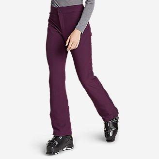 Women's Alpenglow Stretch Ski Pants in Purple