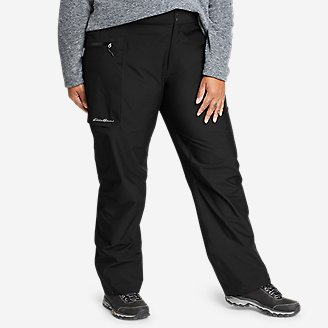 Women's Cloud Cap Stretch Rain Pants in Black