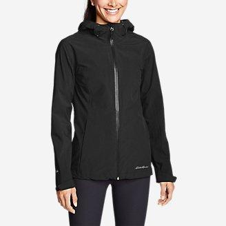 Women's Cloud Cap 2.0 Stretch Rain Jacket in Black