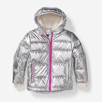 Toddler Girls' Classic Down Jacket - Metallic in Gray