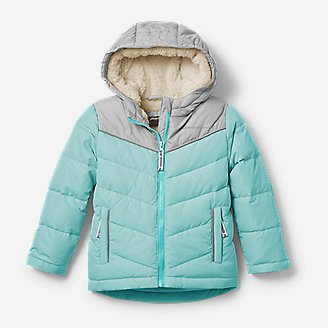 Toddler Girls' Classic Down Hooded Jacket in Blue