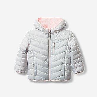 Toddler Girls' Deer Harbor Reversible Hooded Jacket in Gray