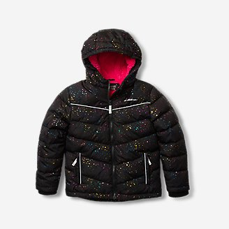Toddler Girls' Classic Down Hooded Jacket in Black