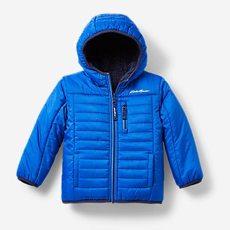 Toddler Boys' Deer Harbor Reversible Hooded Jacket in Blue