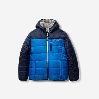 Toddler Boys' Deer Harbor Reversible Hooded Jacket - Color Block in Blue