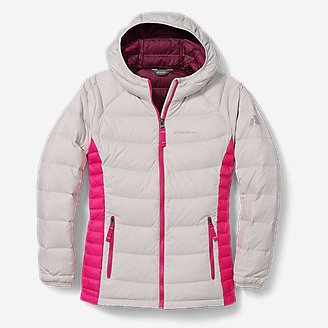 Girls' Downlight Hooded Jacket in Gray
