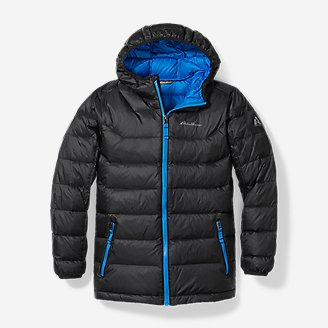 Boys' Downlight Hooded Jacket in Gray