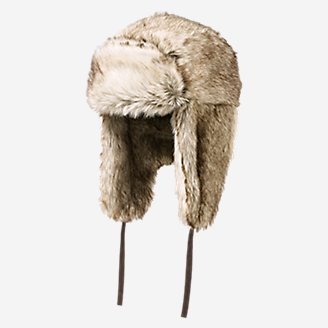 Truckee Faux Fur Trapper Hat in White