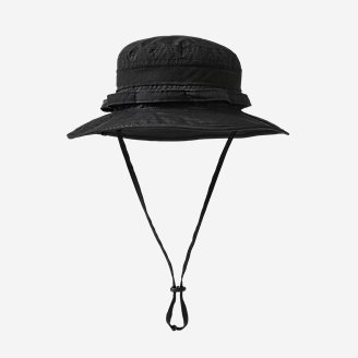 Exploration UPF Vented Boonie Hat in Black