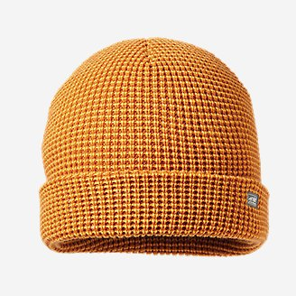 Men's Mini-Stripe Beanie in Yellow
