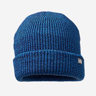 Men's Mini-Stripe Beanie in Blue