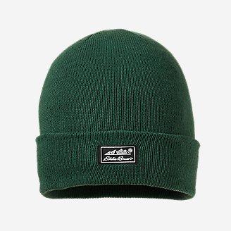 Thistle Wide-Cuff Beanie in Green