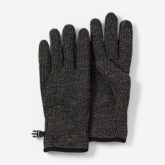 Men's Windcutter Fleece Touchscreen Gloves in Gray