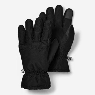 Men's Boundary Pass Down Gloves in Black