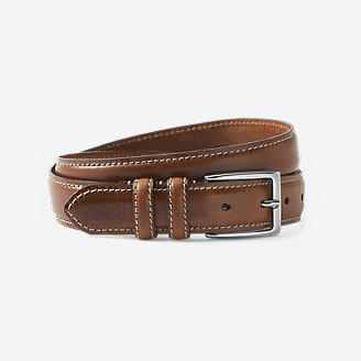 Men's Feather Edge Leather Belt in Brown