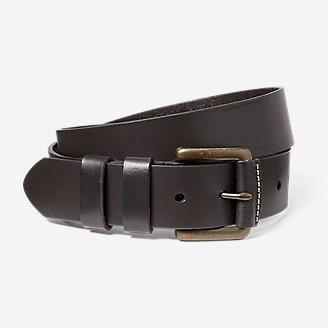 Men's American Sportsman Leather Belt in Brown