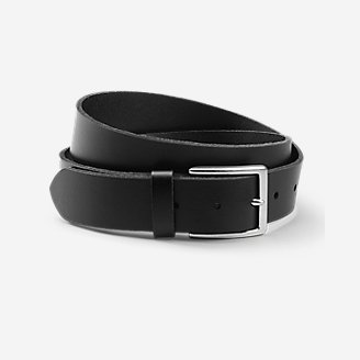 Men's Khaki Leather Belt in Black