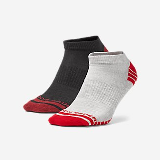 Men's Active Pro COOLMAX Low Socks - 2 Pack in Red