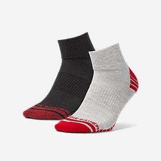 Men's Active Pro COOLMAX Quarter Socks - 2 Pack in Red