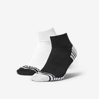 Men's Active Pro COOLMAX Quarter Socks - 2 Pack in Black
