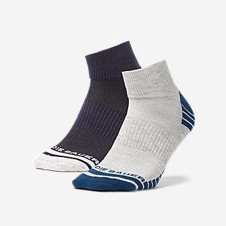 Men's Active Pro COOLMAX Quarter Socks - 2 Pack in Blue