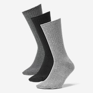 Men's Solid Crew Socks - 3 Pack in Gray