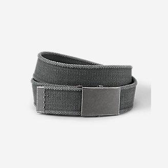 Men's Web Plaque Belt in Gray