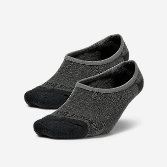 Women's Tipped No-Show Liner Socks - 2 Pack in Gray