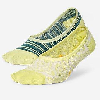 Women's Super No-Show Liner Socks - 2-Pack in Green