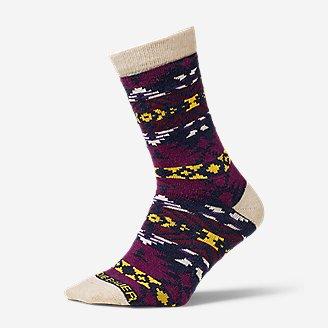 Women's Crew Socks in Purple