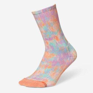Women's Trail COOLMAX Crew Socks - Pattern in Orange