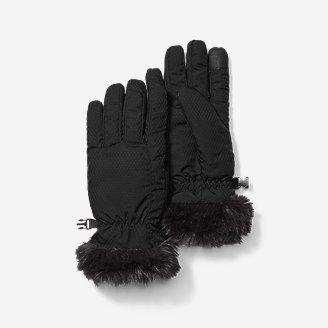 Women's Sun Valley Down Gloves in Black