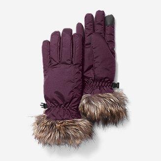 Women's Sun Valley Down Gloves in Purple