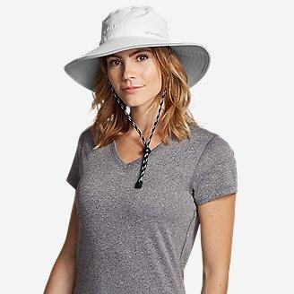 Women's Exploration UPF Wide Brim Hat in White