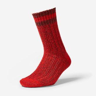 Women's Ragg Crew Socks in Red