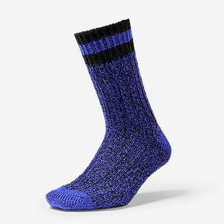 Women's Ragg Crew Socks in Purple