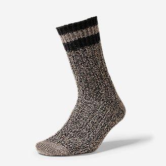 Women's Ragg Crew Socks in Gray