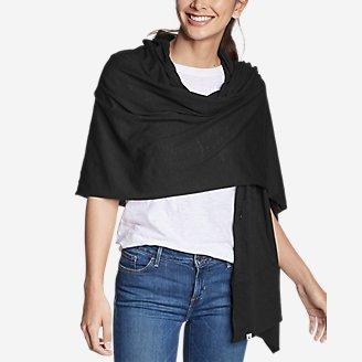 Women's Daisy Travel Wrap in Black