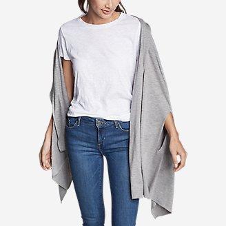 Women's Daisy Travel Wrap in Gray