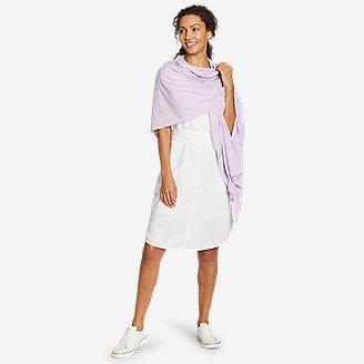 Women's Daisy Travel Wrap in Purple