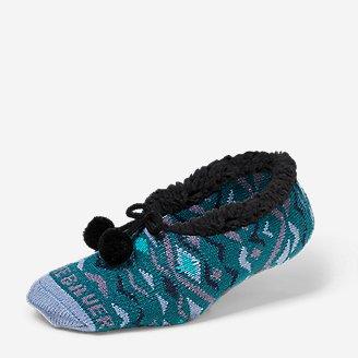 Women's Fireside Slipper Socks in Green
