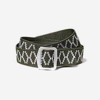 Women's Horizon Jacquard Belt in Green