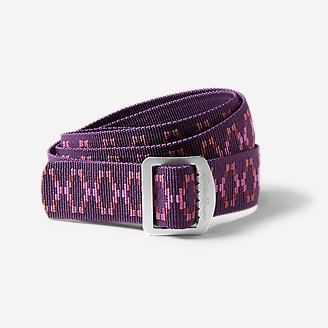 Women's Horizon Jacquard Belt in Red