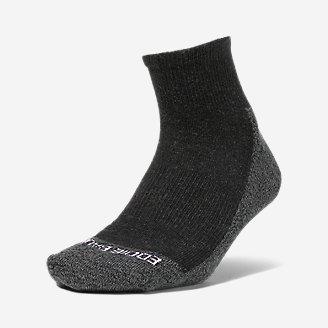 Women's COOLMAX Trail Quarter Crew Socks in Gray