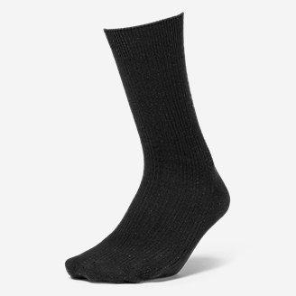 Women's Essential Crew Socks in Black