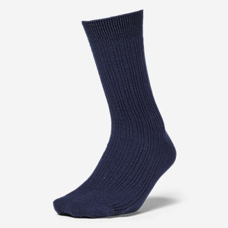 Women's Essential Crew Socks in Blue