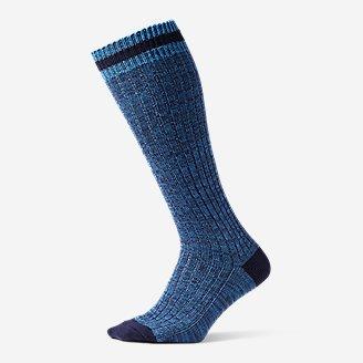 Women's Cotton-Blend Ragg Boot Socks in Blue