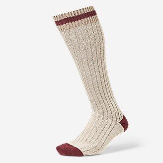Women's Ragg Boot Socks in Beige
