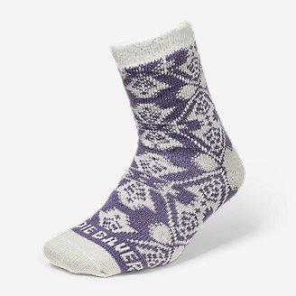 Women's Fireside Lounge Socks in Purple